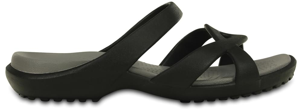 Crocs Sandalen Dames Black-Smoke Meleen Twist