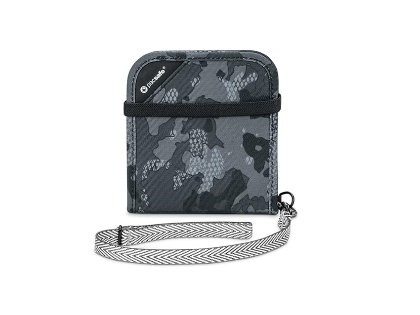 Pacsafe RFIDsafe V100 Grey-Camo Anti-theft