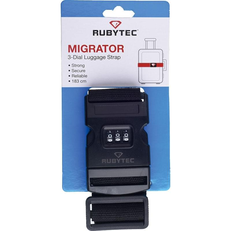 Rubytec Migrator 3 Dial Luggage Strap Black