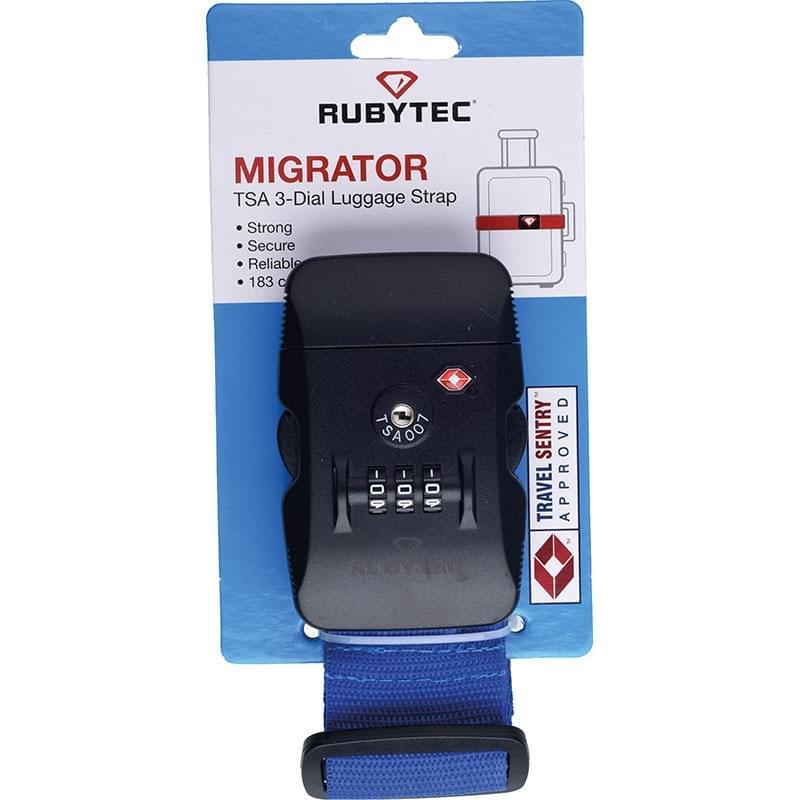 Rubytec Migrator TSA 3 Dial Luggage Strap Blue