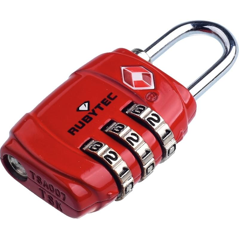 Rubytec Migrator TSA 3 Dial Lock Red