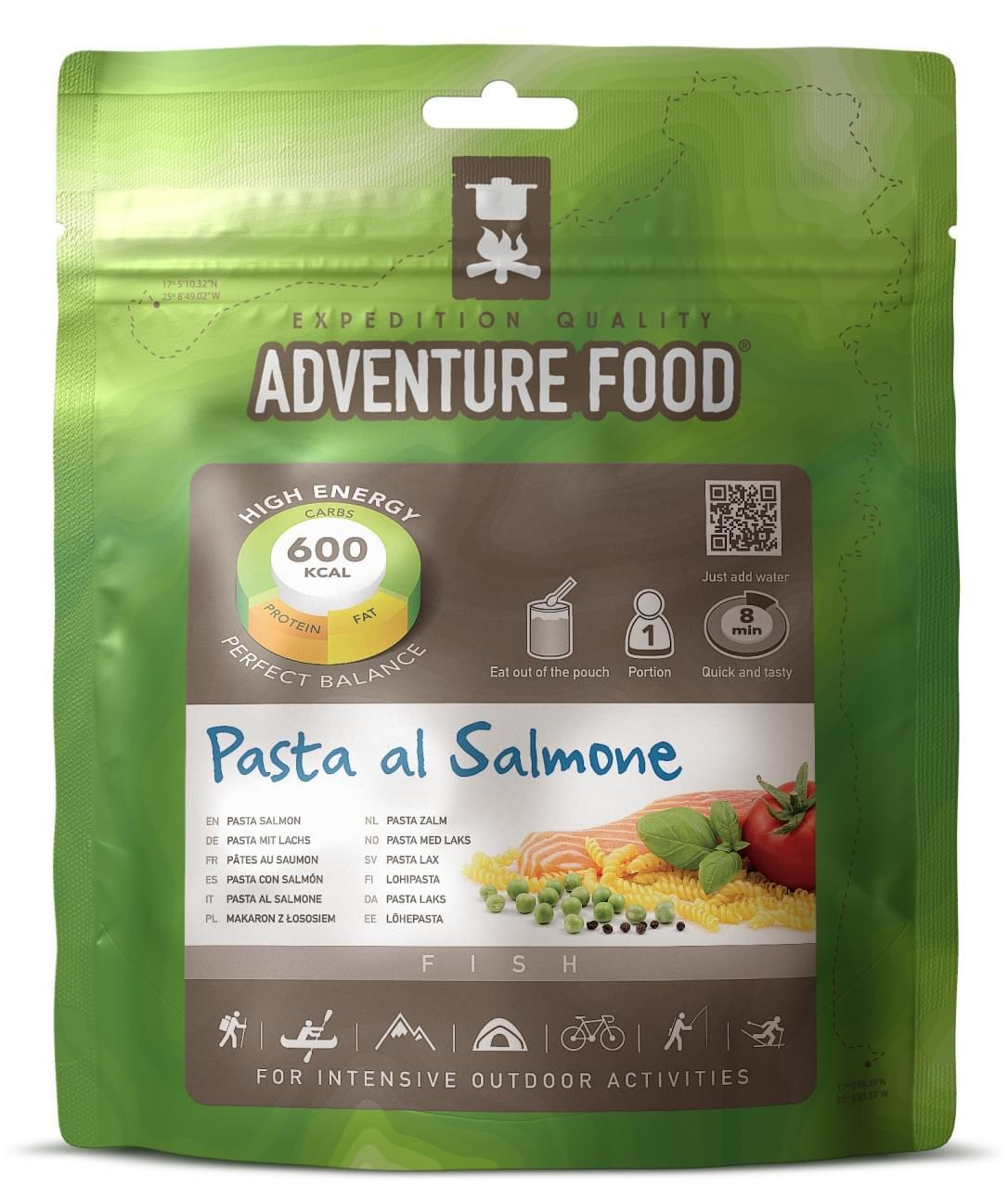 Adventure Food Niet-Vegetarisch Een portie Pasta Zalm
