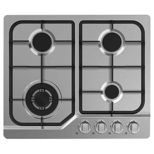 Exquisit 4-Pits Inbouw Kookplaat RVS
