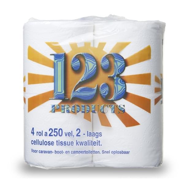 123 Toilet papier 4 x 250 vel 2 laags