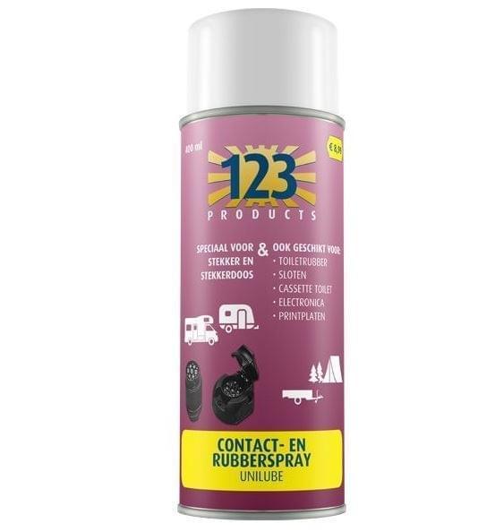 123 Contact en Rubberspray Unilube