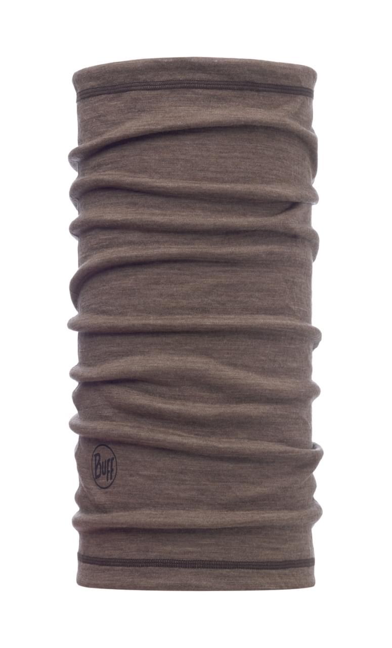 Buff Lightweight Merino Wool - Solid Walnut Brown