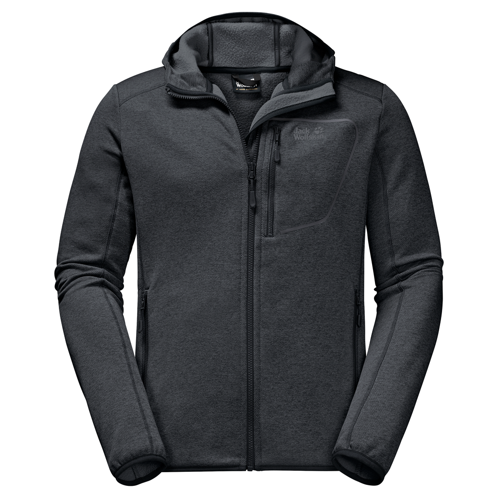 Jack Wolfskin Skyland Hooded Fleece Jacket Heren Truien en vesten > Fleece jacket > Truien en vesten