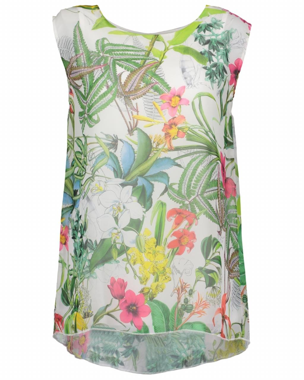 Kampeerspullen online.nl Blue Seven Floral T Shirt Dames