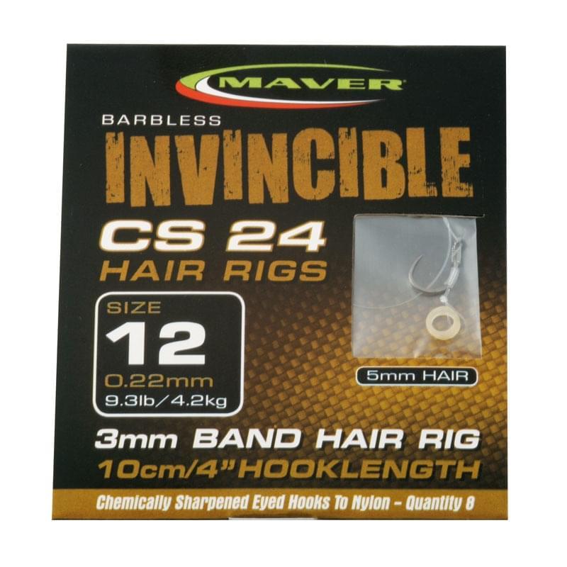 Maver Invincible CS24 Banded Hair Rig Forel > Hengelsport Onderlijnen kant en klaar > Haken en onderlijnen