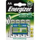 Energizer 4x AA oplaadbare batterijen 2000 MAH