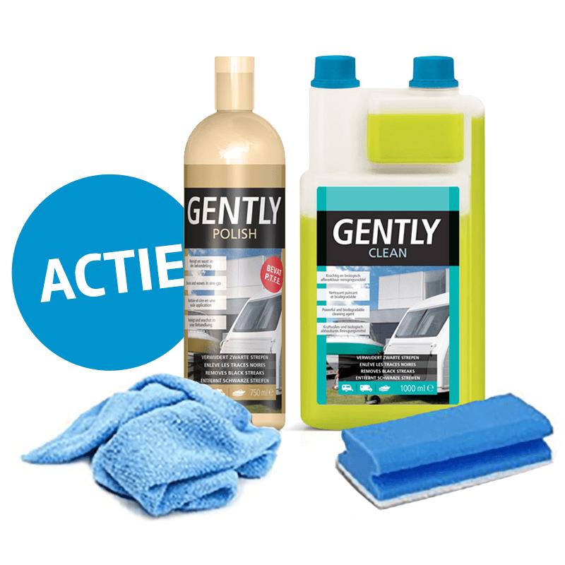 Gently Polish + Clean (incl. doek en spons)