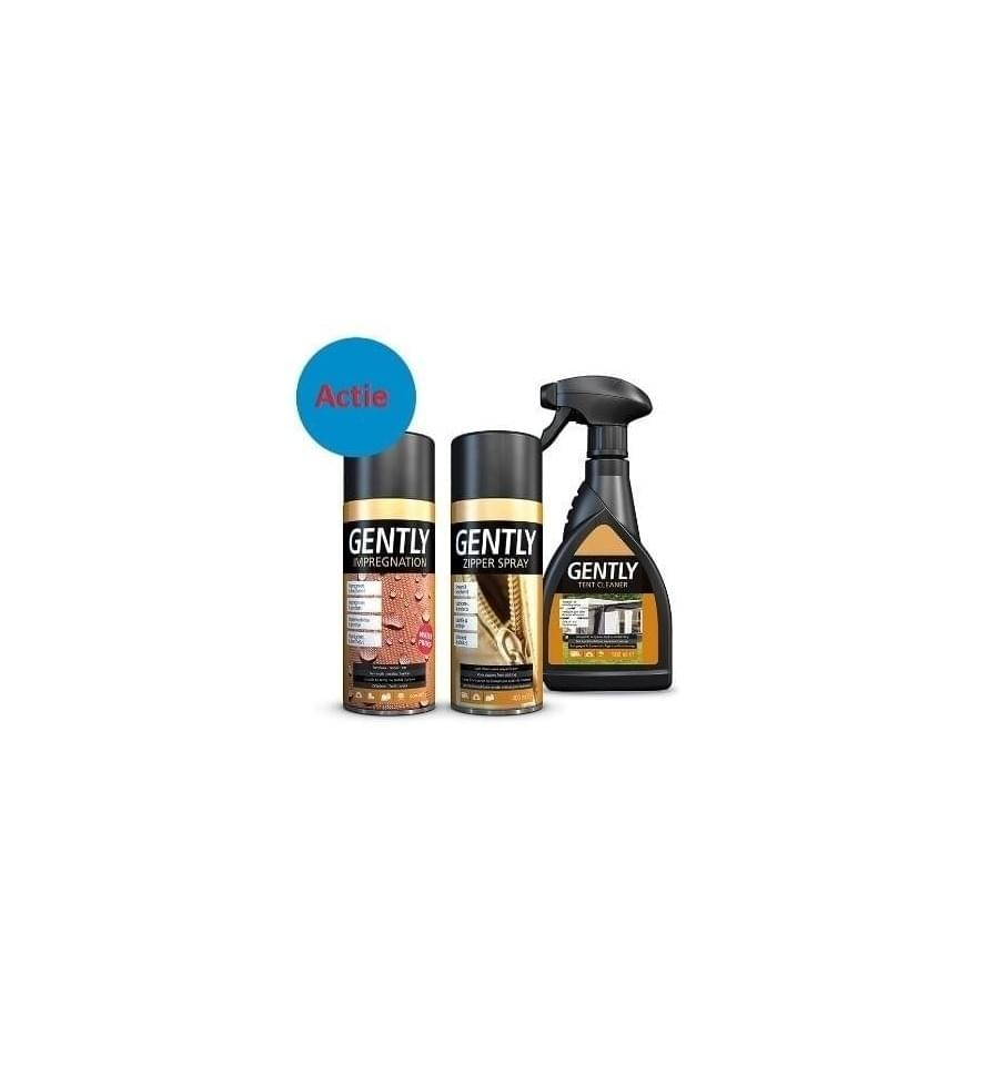 Gently Tent Cleaner + Impregnation + Zipperspray