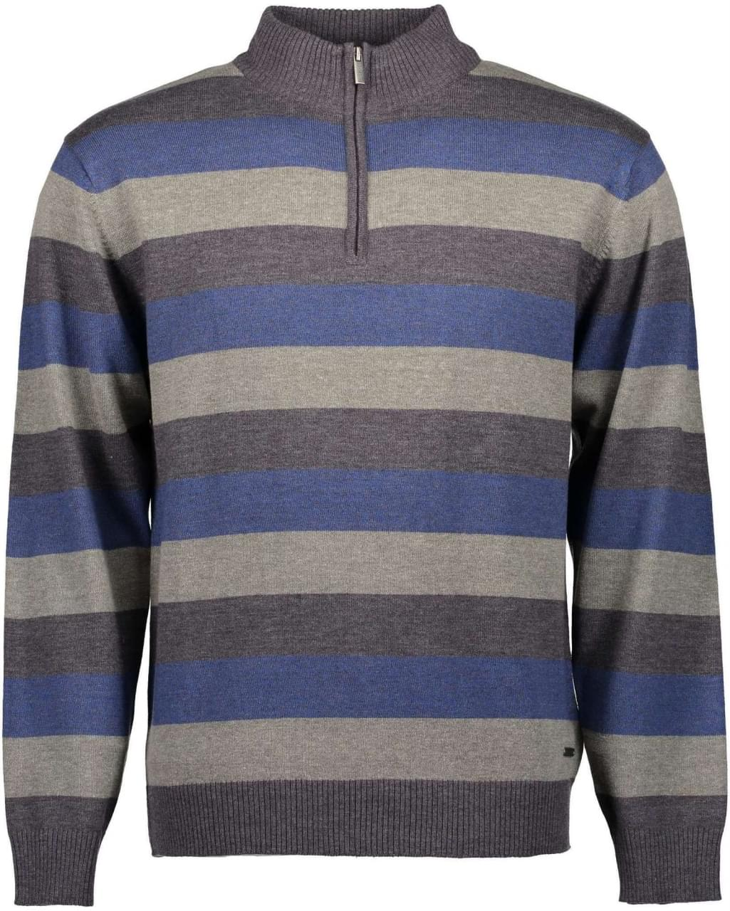 Blue Seven Banded Sweater Heren