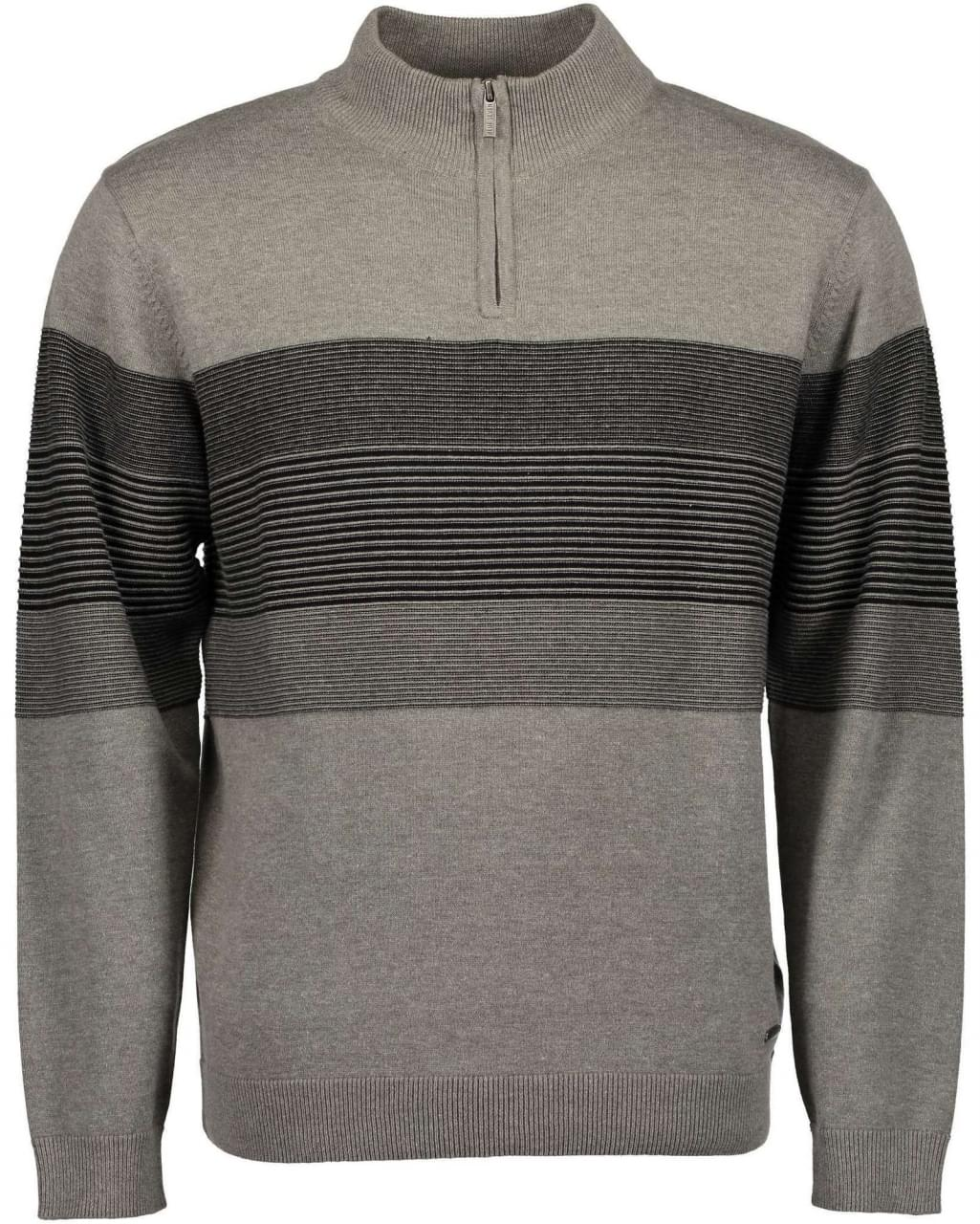 Blue Seven Striped Grey Sweater Heren