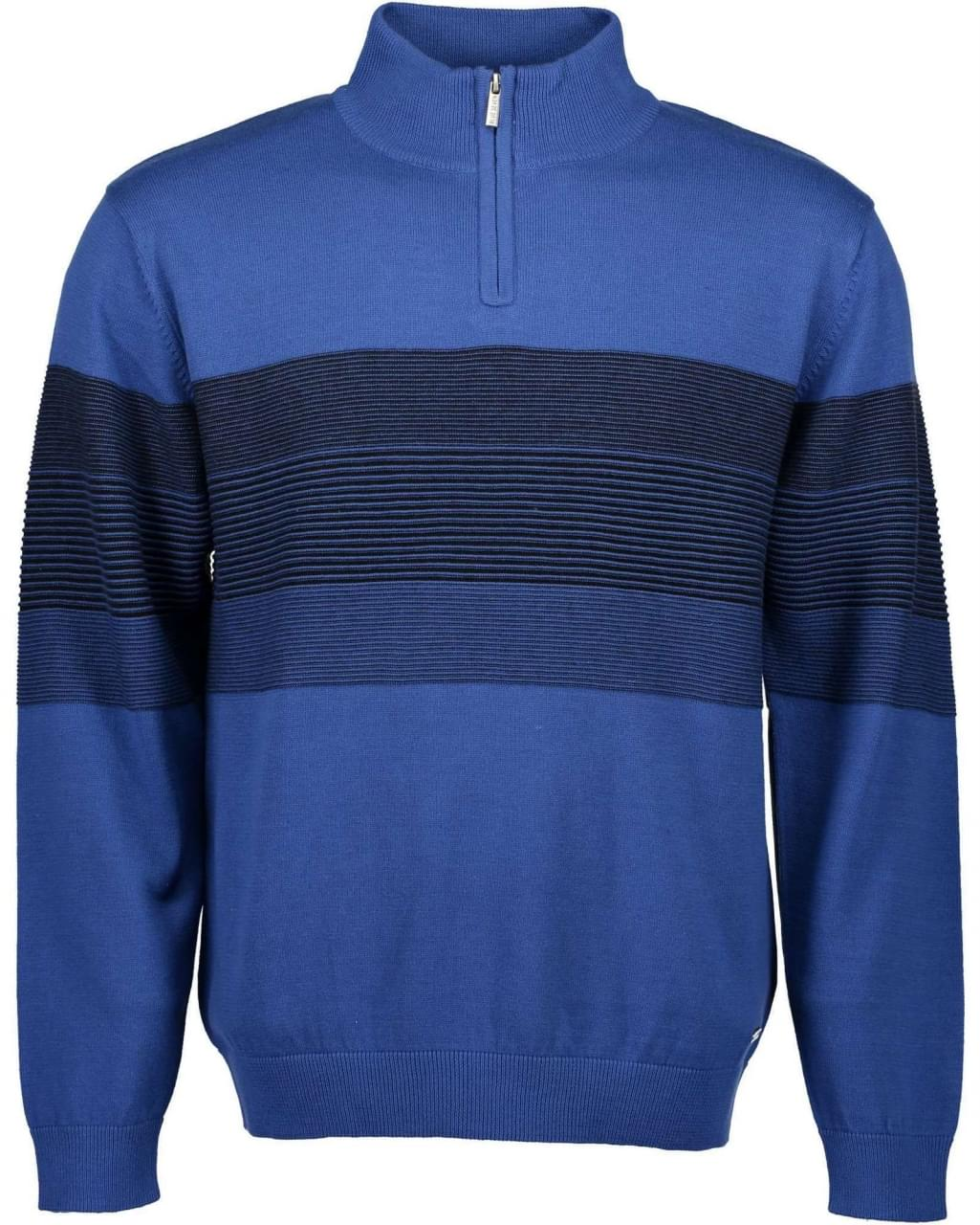 Blue Seven Striped Blue Sweater Heren