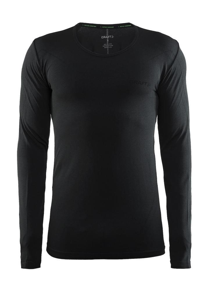 Craft Active Comfort Roundneck LS Heren Black