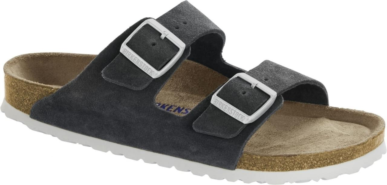 Birkenstock Arizona SFB Gunmetal Narrow Slipper Dames