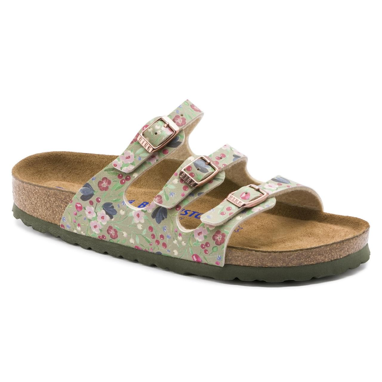 Birkenstock Florida SFB Meadow Flowers Narrow Slipper Dames