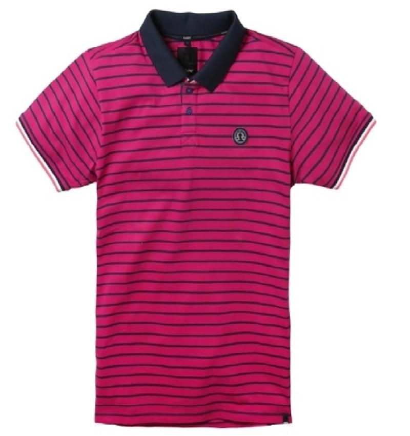 Twinlife Polo SS Regular Fit Raspberry mt. M