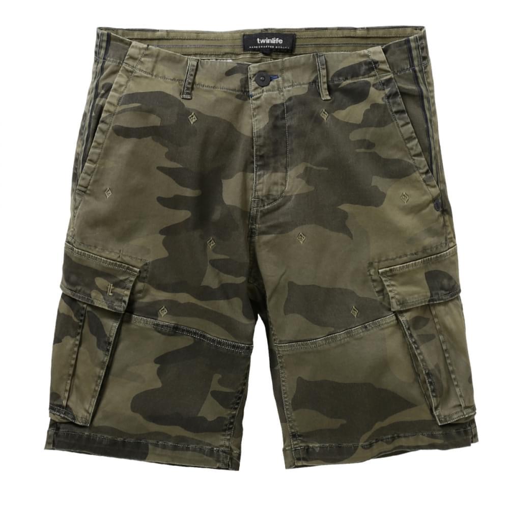 Heren Camouflage Korte Broek.Twinlife Bermuda Korte Broek Heren