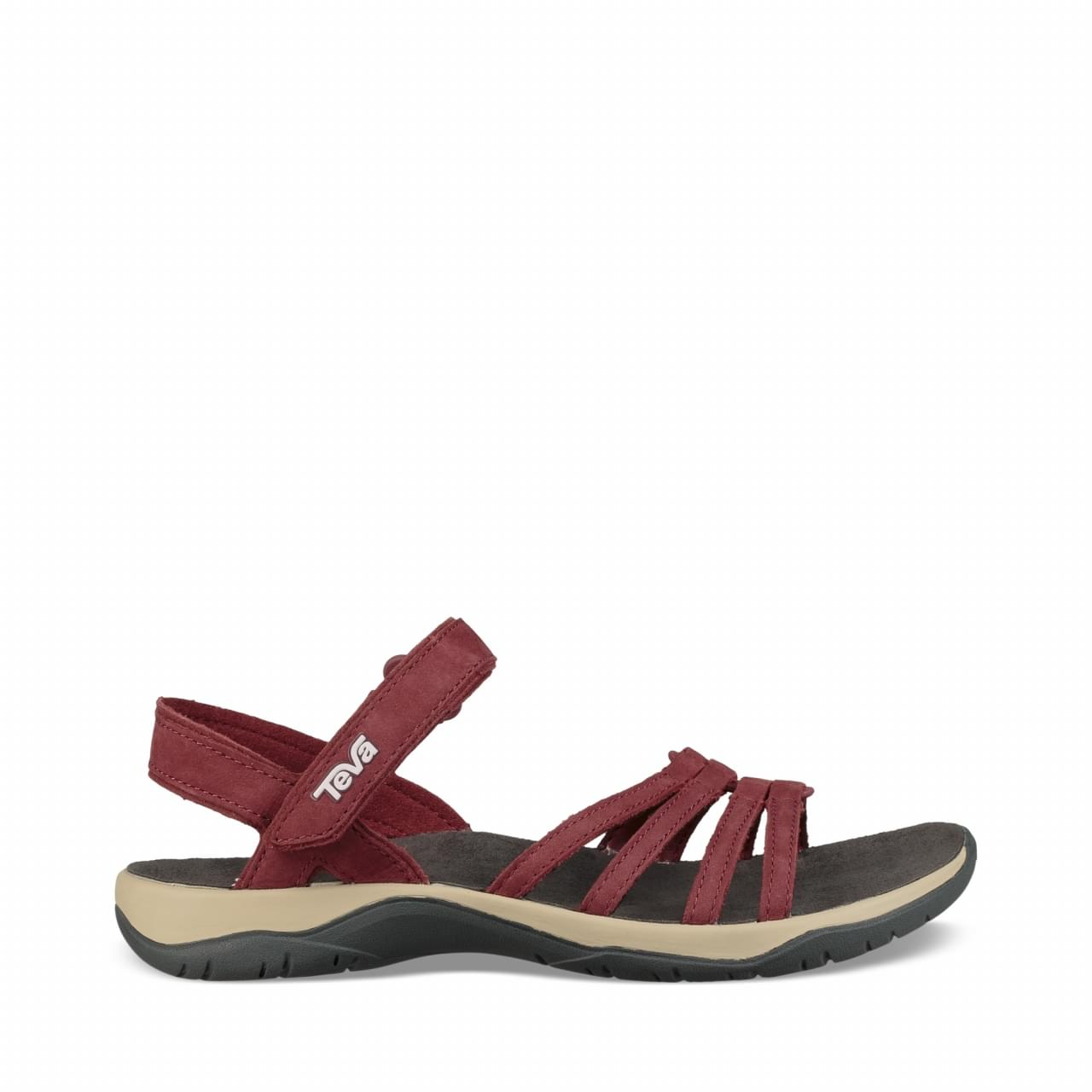Teva Elzada Leather Sandaal Dames Rood