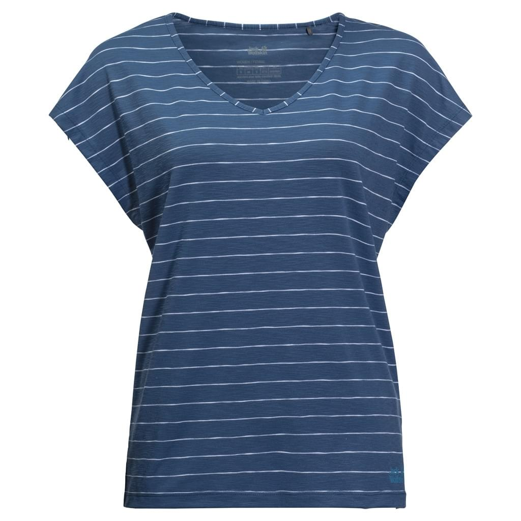 Jack Wolfskin Travel Striped T-shirt Dames