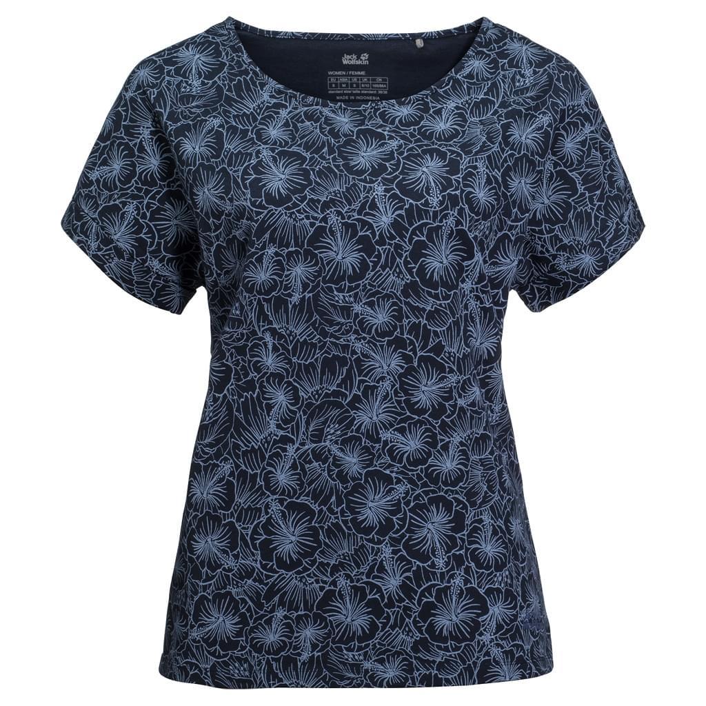 Jack Wolfskin Hibiscus Flower T-shirt Dames