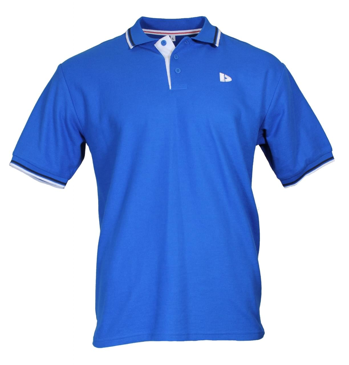 Donnay Twin Tipped Pique Polo Heren Blauw