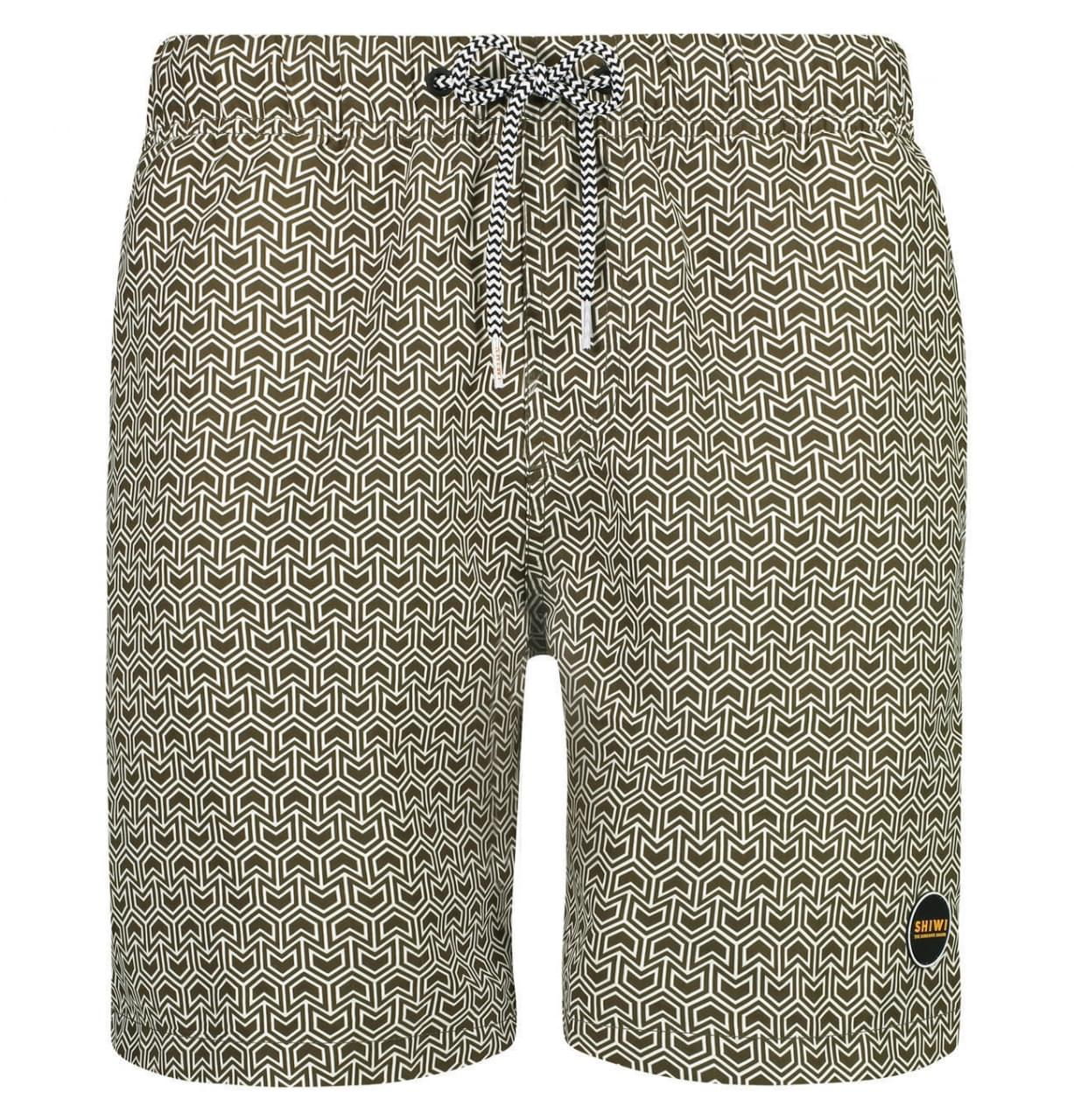 SHIWI Swim Short Geo Arrow Heren