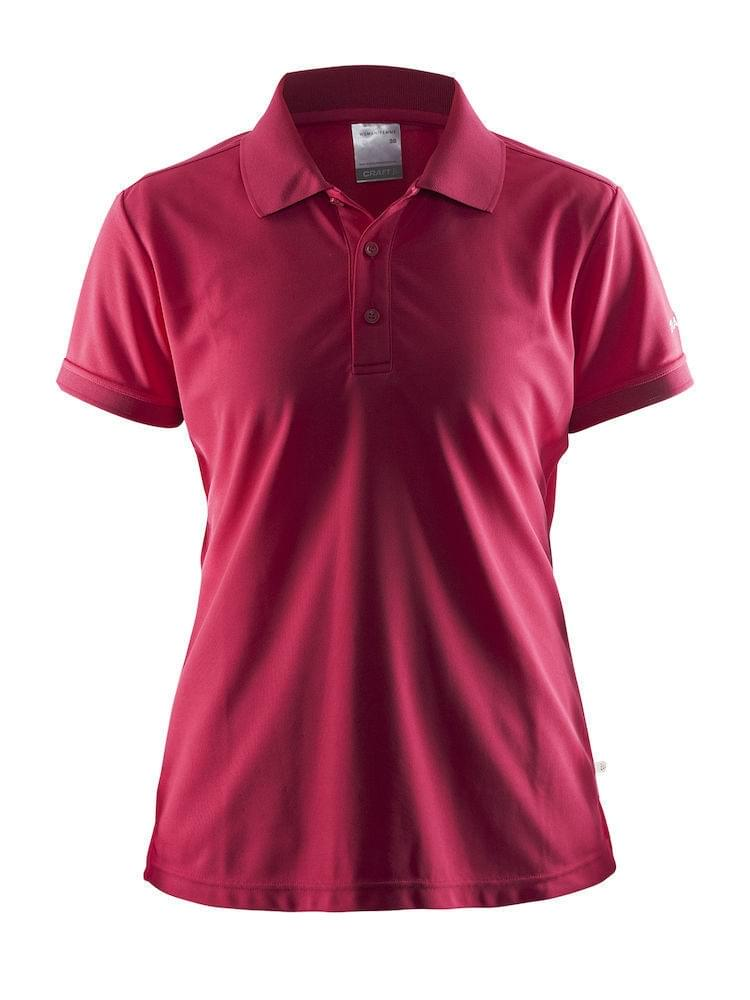Craft Classic Pique Polo Dames Roze