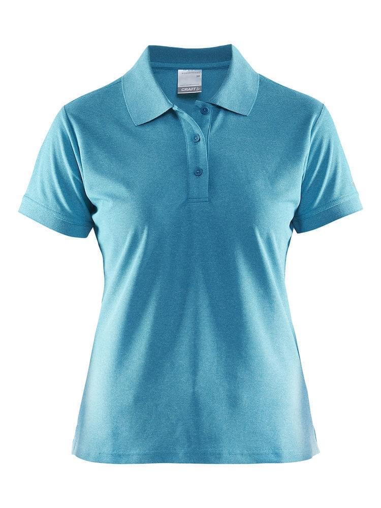 Craft Classic Pique Polo Dames Blauw