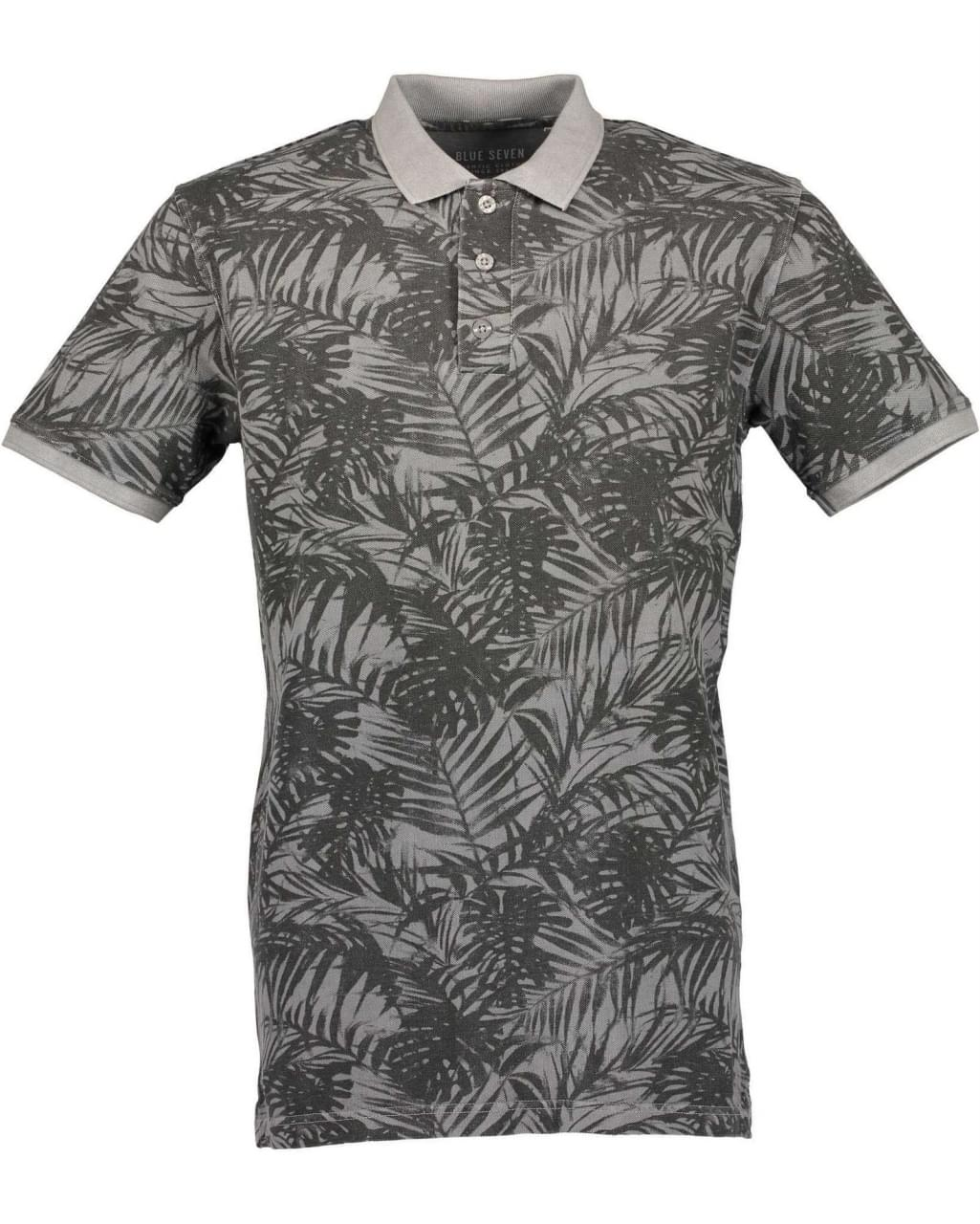 Blue Seven Tropical Polo Heren