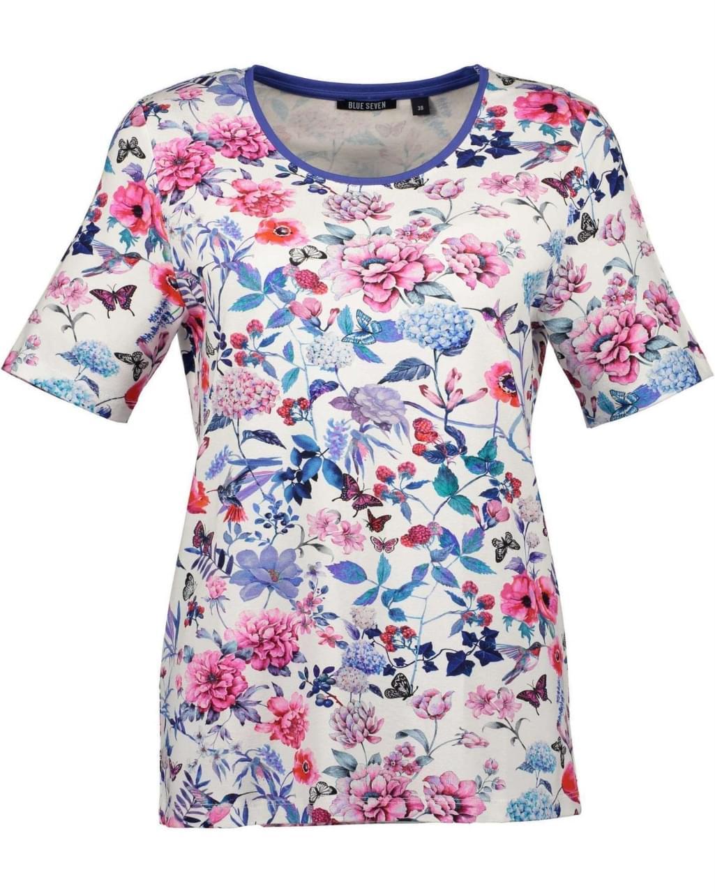 Blue Seven Flower T-Shirt Dames