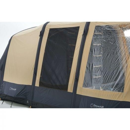 Bardani AirSpace 380 TC 5 Persoons Opblaastent Beige Grijs
