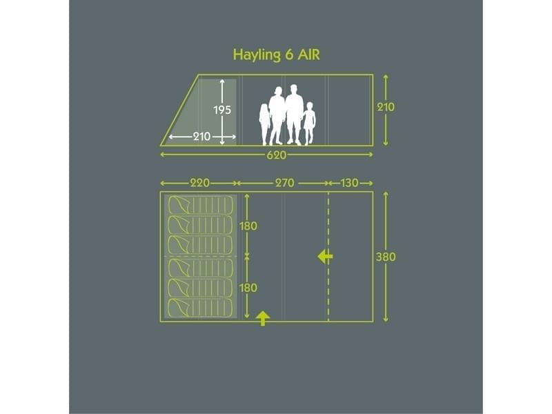 Kampa Hayling 6 classic air pro