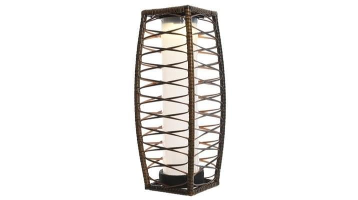 Lumineo LED Solar Wicker Lantaarn 48cm