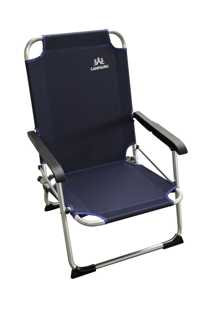 Human Comfort Chair Low Blue Strandstoel