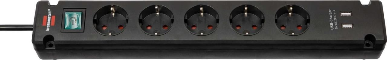 Brennenstuhl Ecolor 5-Voudige Stekkerdoos met USB