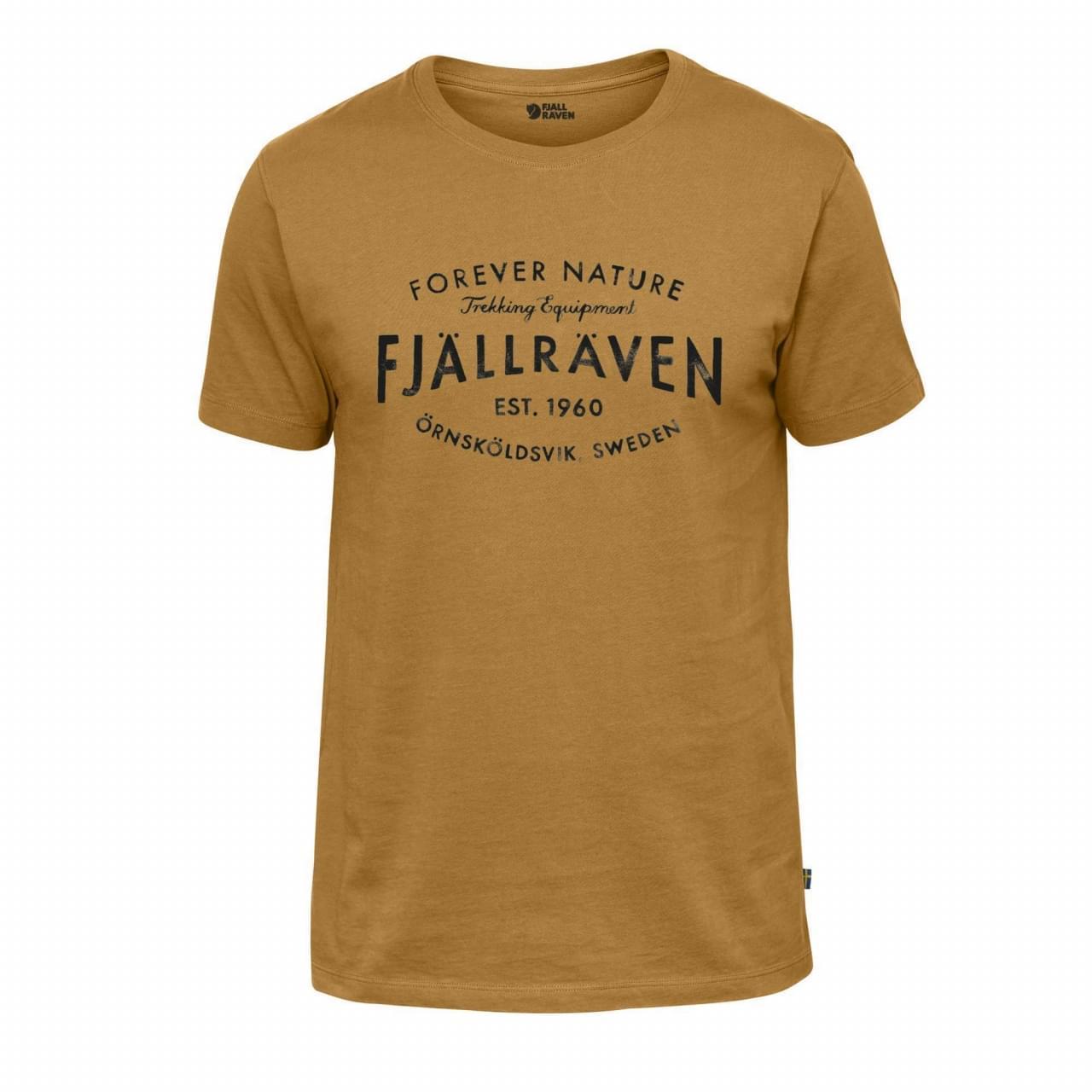 Fjallraven Est. 1960 T-Shirt Heren Geel