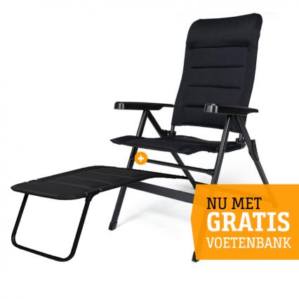 Travellife Barletta Comfort XL Campingstoel incl. voetenbank