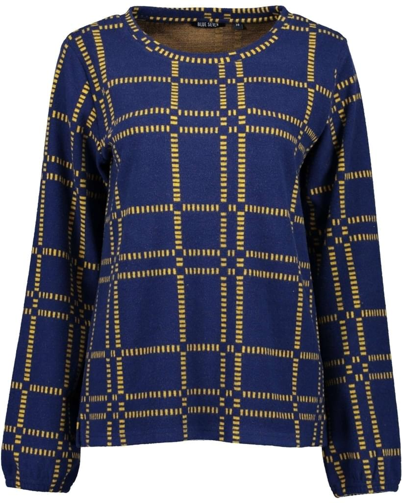 Blue Seven Jaquard Fleece Trui Dames