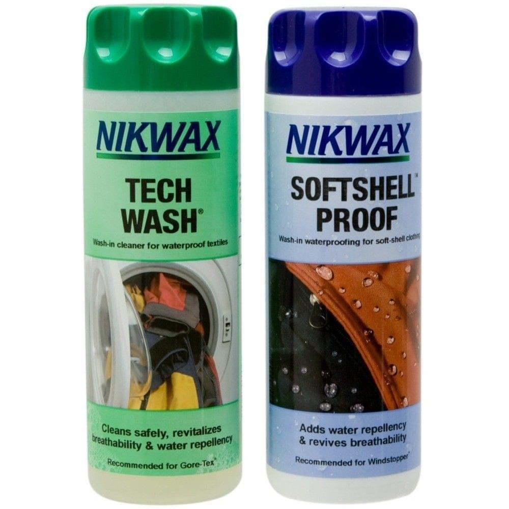 Nikwax Twin Pack Tech Wash / Softshell Proof 300ml