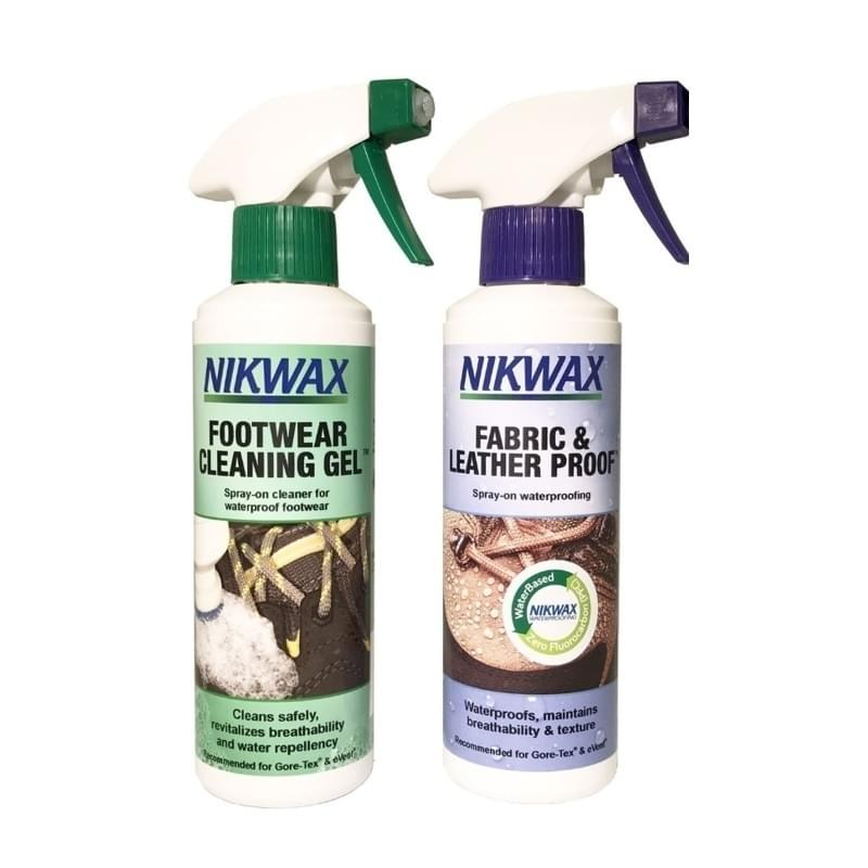 Nikwax Twin Pack Footwear Cleaning - Fabric & Leather Spray