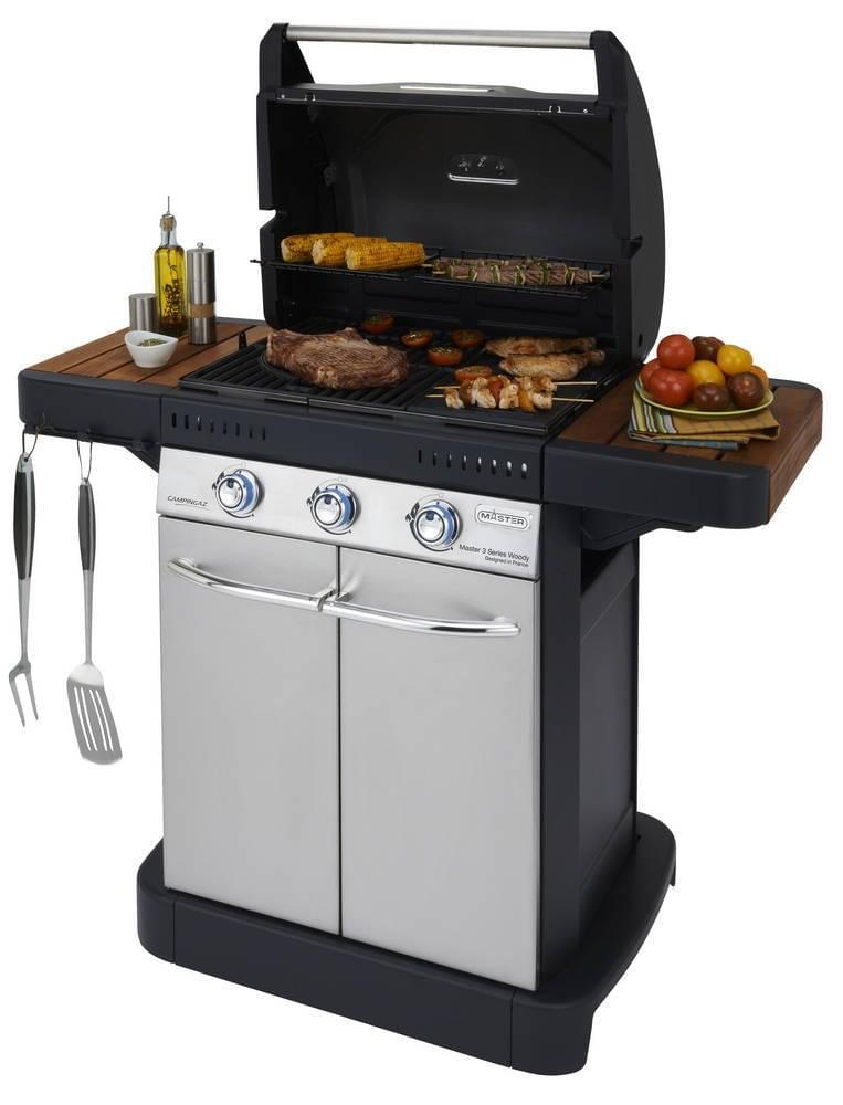 Campingaz Master 3 Serie Woody Gasbarbecue