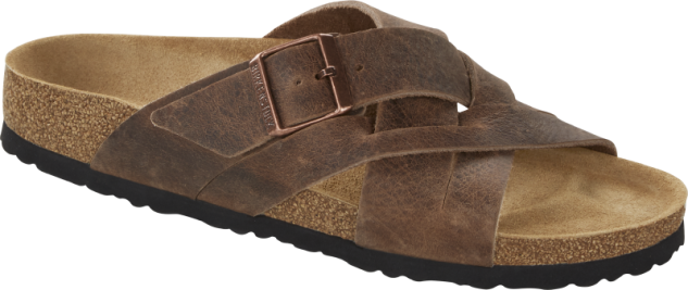 Birkenstock Lugano Oiled Leather Slipper Heren