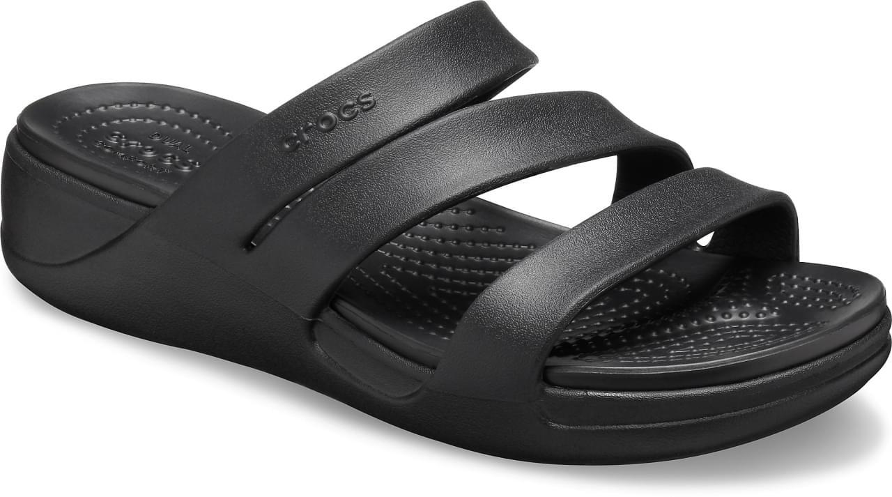 Crocs Monterey Strappy Wedge Slipper