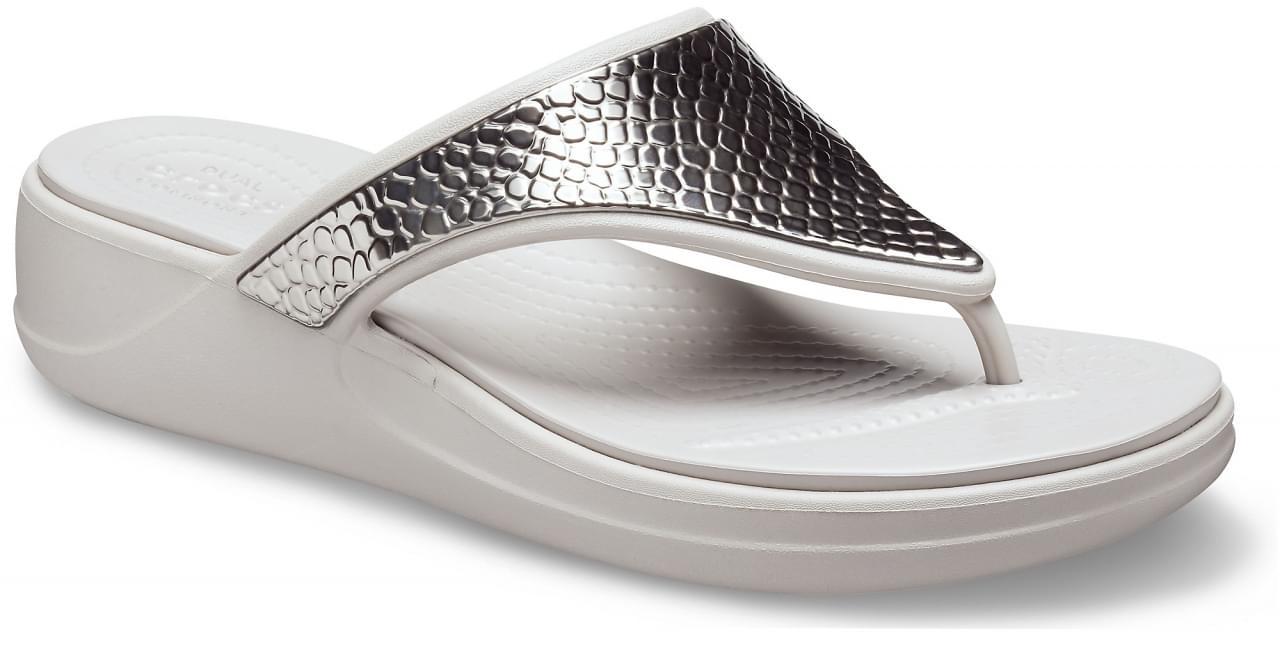 Crocs Monterey Metalllic Wedge Slipper Dames