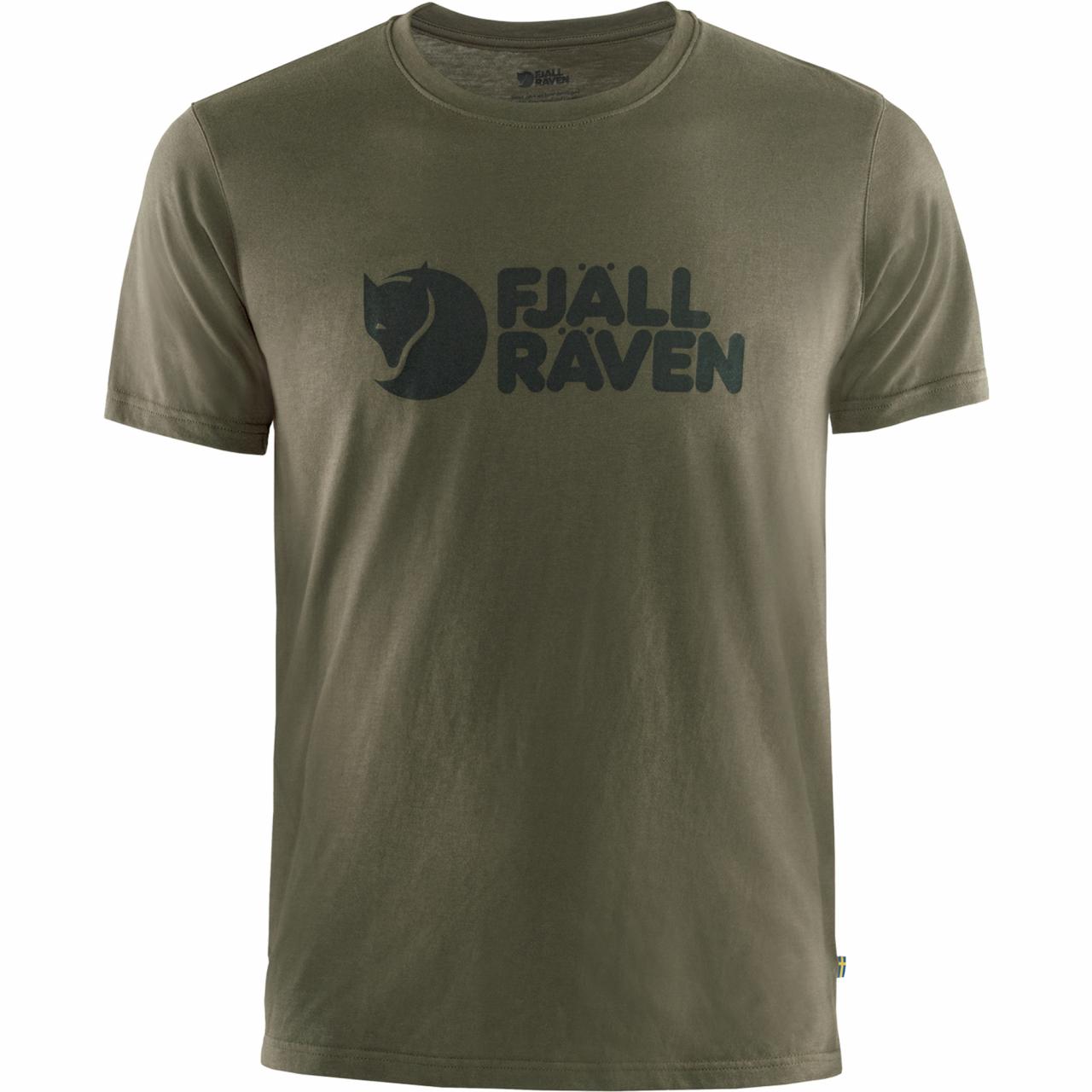 Fjallraven Logo T-shirt Heren Groen