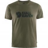 Fjallraven Logo T-shirt Heren - Groen