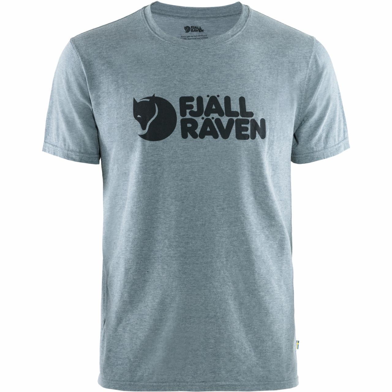 Fjallraven Logo T-shirt Heren Blauw